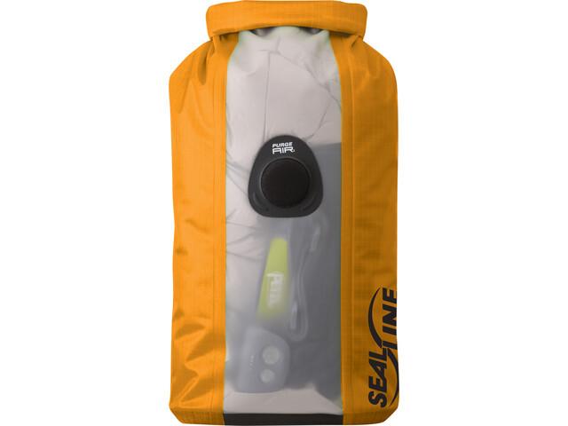 SealLine Bulkhead View Dry Bag Set, Large, orange